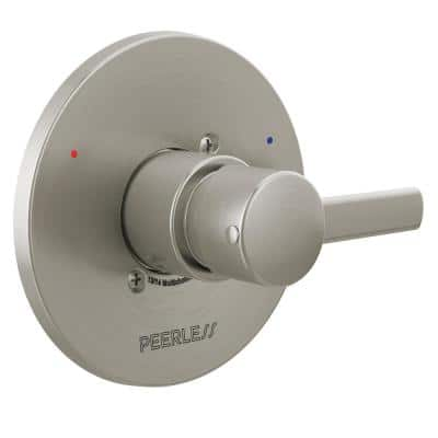 Precept 1-Handle Wall Mount Valve Trim Kit in Brushed Nickel (Valve Not Included)