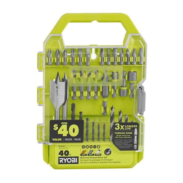 Ryobi Drill and Impact Drive Kit (40-Piece)