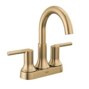 Trinsic 4 in. Centerset Double Handle Bathroom Faucet in Champagne Bronze