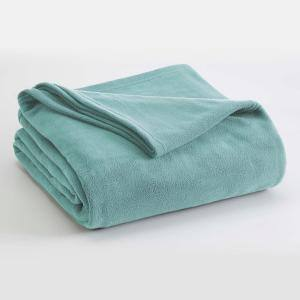 Microfleece Light Blue Polyester King Blanket