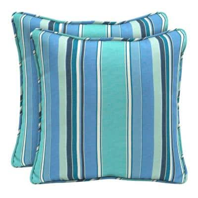 Sunbrella Dolce Oasis Square Outdoor Throw Pillow (2-Pack)