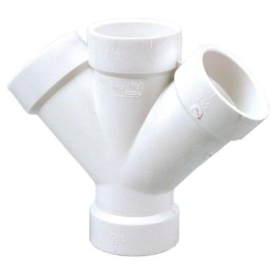 3 in. PVC DWV 45-Degree All Hub Double Wye