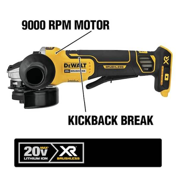 """Dewalt DCG413B 20V 4 1//2/"""" Brushless Grinder W Brake Brake 20 Volt MAX"""