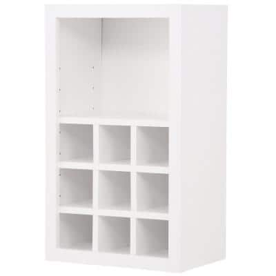 Hampton/Shaker Assembled 18x30x12 in. Wall Flex Kitchen Cabinet with Shelves and Dividers in Satin White