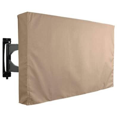 46 in. to 48 in. Brown Outdoor TV Universal Weatherproof Protector Cover
