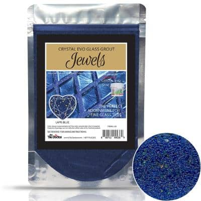 Crystal Glass Grout Jewels Lapis Blue 75 grams (1-Pack)
