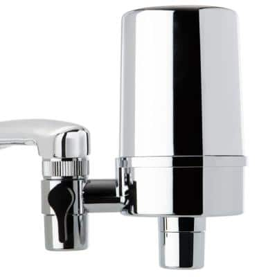 DF2 Series 500 Gal. Faucet Mount Water Filtration System, BPA Free, Chrome Finish