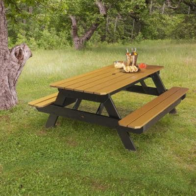 Hometown Saddle Rectangular Plastic Picnic Table