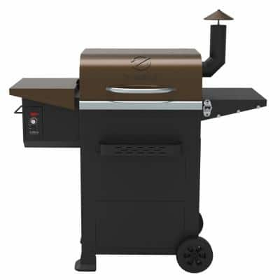 6002B 573 sq. in. Wood Pellet Grill and Smoker 6-in-1 BBQ Auto Temperature Control in Bronze