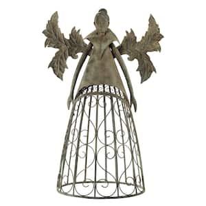 46 in. H Tempest the Metal Garden Trellis Fairy Statue