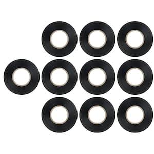 3/4 in. x 60 ft. Vinyl Electrical Tape Black (10-Pack)