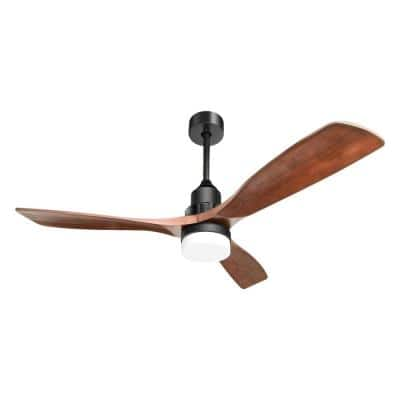 52 in. Indoor Wood Ceiling Fan Light with 6-Speed Remote Reversible Energy Saving DC Motor
