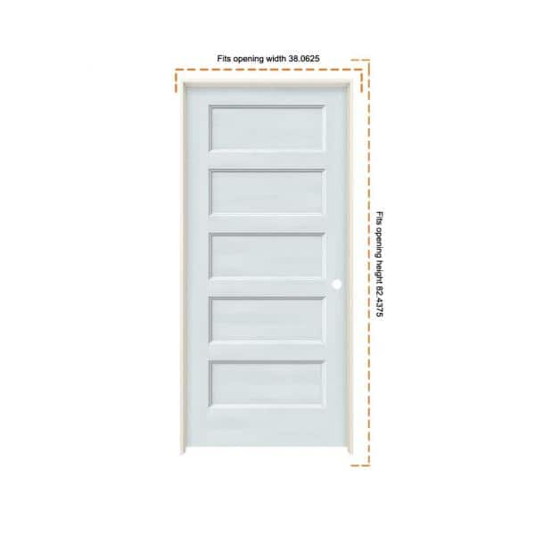 Jeld Wen 36 In X 80 In Conmore Light Grey Paint Smooth Hollow Core Molded Composite Single Prehung Interior Door Thdjw236700091 The Home Depot