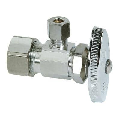 1/2 in. Compression Inlet x 1/4 in. Compression Outlet Multi-Turn Angle Valve