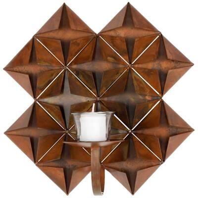 Pillar Antique Copper Wall Decor Candle Sconce