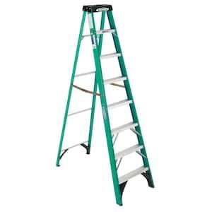 8 ft. Fiberglass Step Ladder, 225 lb. Load Capacity Type II Duty Rating
