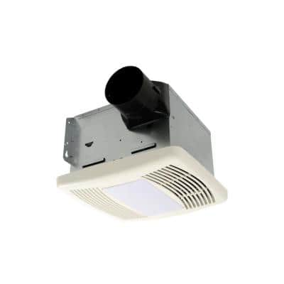 80 CFM Ceiling Bathroom Exhaust Fan with Light and Humidistat, ENERGY STAR