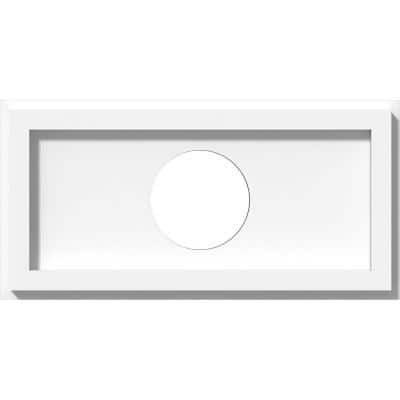 1 in. P X 12 in. W X 6 in. H X 3 in. ID Rectangle Architectural Grade PVC Contemporary Ceiling Medallion