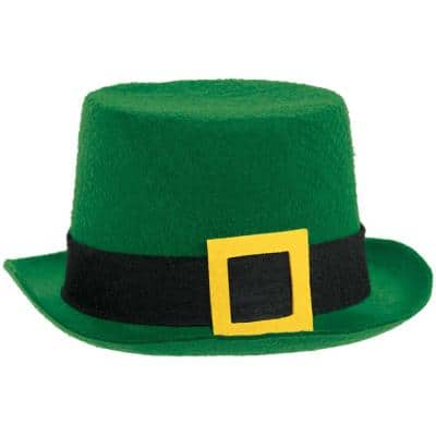 Green Felt St. Patrick's Day Top Hat (3-Pack)