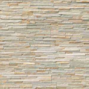 Golden Honey Pencil Ledger Panel 6 in. x 24 in. Natural Quartzite Wall Tile (8 cases / 64 sq. ft. / pallet)