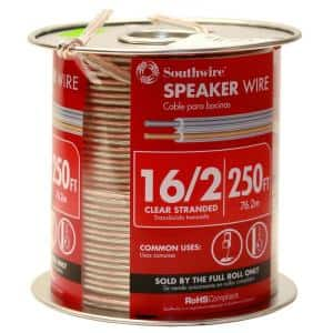 250 ft. 16/2 Clear Stranded CU Speaker Wire