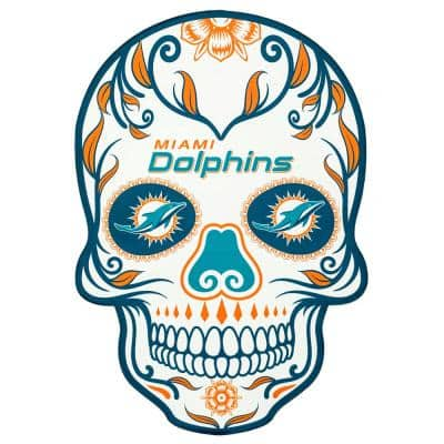 NFL Miami Dolphins Outdoor Skull Graphic- Small