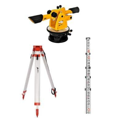 14 in. 22X Automatic Speed Line Optical Builders Transit Level Kit With Tripod and Grade Rod