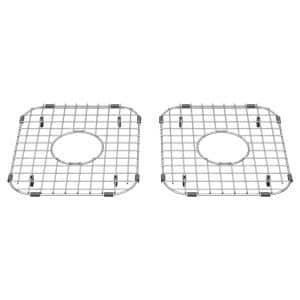 Delancey 11-7/16 in. x 13 in. Double Bowl Apron Sink Grid in Stainless Steel (Set of 2)