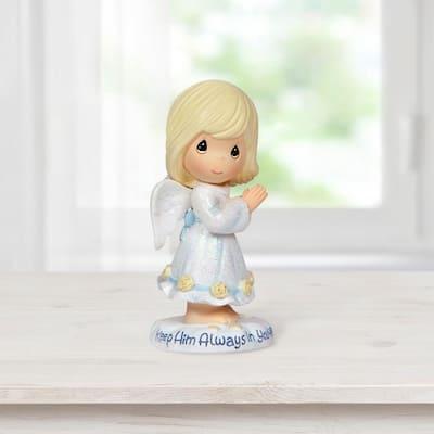 Tabletop Angel Resin Keep Him Always In Your Heart Figurine