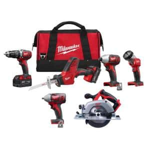 M18 18-Volt Lithium-Ion Cordless Combo Tool Kit (4-Tool) with Circular Saw and 3/8 in. Impact Wrench