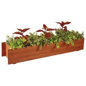 36 in. x 6 in. Wood Window Box Planter