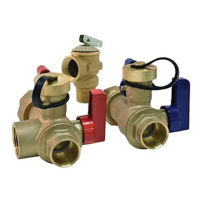 3/4 in. FNPT Union x 3/4 in. Sweat Tankless Water Heater Service Valve
