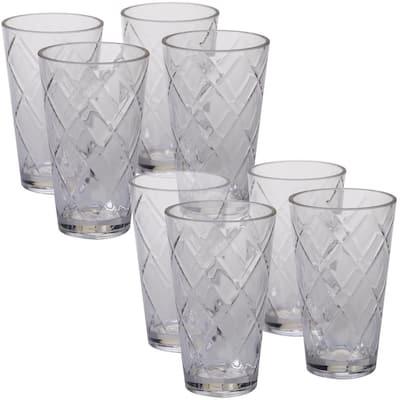 20 oz. 8-Piece Clear Acrylic Ice Tea Glass