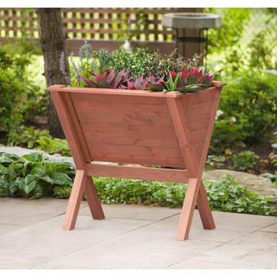 Wooden Wedge Raised Planter