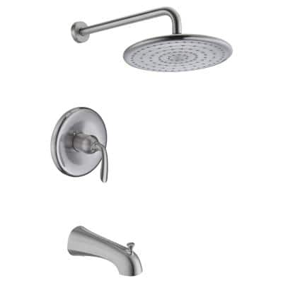 Meno Series Single-Handle 1-Spray Tub and Shower Faucet in Brushed Nickel