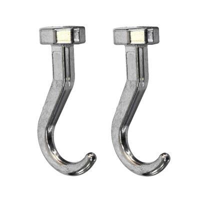 Glideware 3 in. L Zinc Short Hook Accessory (2-Pack)
