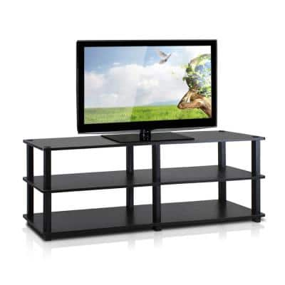 Turn-N-Tube 47 in. Espresso Particle Board TV Stand Fits TVs Up to 42 in. with Open Storage