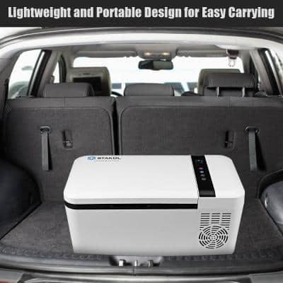 16 Quart Portable Car Refrigerator Mini Cooler/Freezer Compressor Camping in White