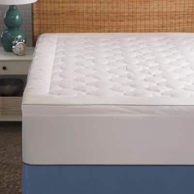 250 Thread Count Serenity Cool Sleep Polyester-Filled King Mattress Pad