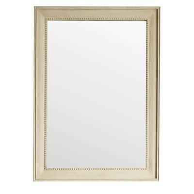 Bristol 29 in. W x 40 in. H Single Framed Wall Mirror in Vintage Vanilla