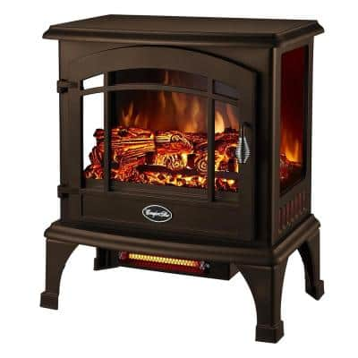 Sanibel 1500-Watt Electric Infrared Quartz Space Heater with Panoramic 3-Side Viewing