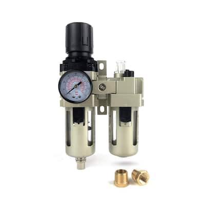 3/8 in. Filter Regulator Lubricator 3-in-1 Combo with Gauge