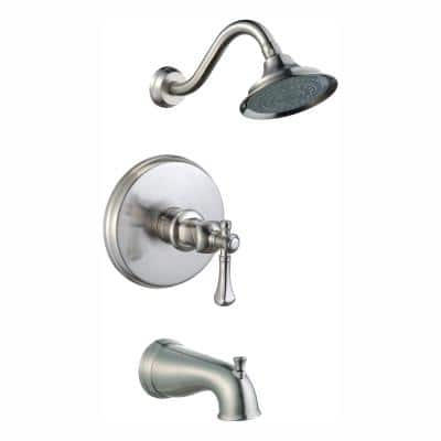 Verdanza WaterSense Single-Handle 1-Spray Tub and Shower Faucet in Brushed Nickel (Valve Included)