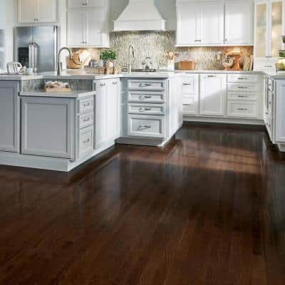 American Originals Barista Brown Oak 3/8 in. T x 3 in. W Engineered Click Lock Hardwood Flooring (22 sq. ft./case)