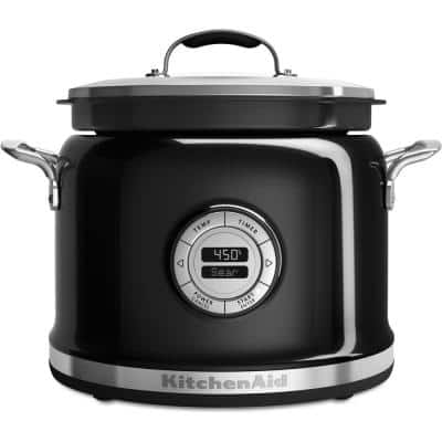 4 Qt. Onyx Black Non-Stick Electric Multi-Cooker