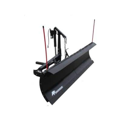 Pro Shovel 84 in. x 22 in. Snow Plow for 2 in. Front Mounted Receiver with Actuator Lift System