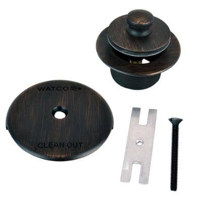 1.625 in. Overall Diameter x 16 Threads x 1.25 in. Push Pull Trim Kit, Oil-Rubbed Bronze