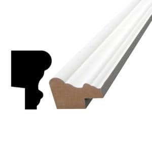 Alexandria Moulding 3818 11 16 In X 1 1 2 In X 12 Ft Primed Finger Jointed Poplar Base Cap Moulding 05920 97144c The Home Depot