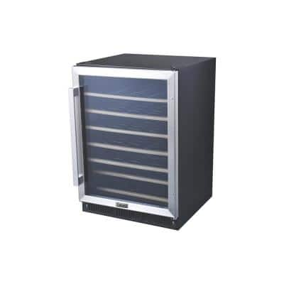 24 in. 47-Bottle Wine Cooler in Stainless Steel, with Electrical Temperature Control