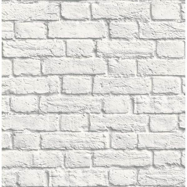 Brewster Cologne White Painted Brick Strippable Roll Covers 56 4 Sq Ft Uw24763 The Home Depot